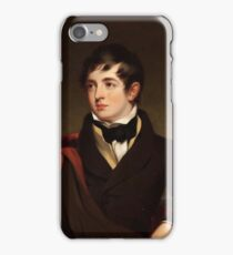 WILLIAM ROBINSON (British, 19th Century) The Honorable Frederick Weddell Robinson, Son of the Third Lord Grantham, circa  iPhone Case/Skin