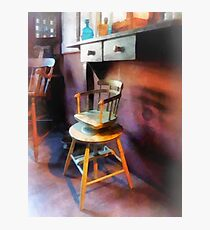 Vintage Child's Barber Chair Photographic Print