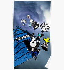 snoopy police box Poster