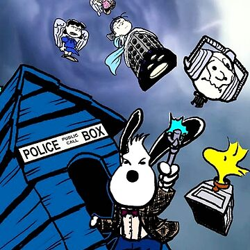 snoopy police box by quickart