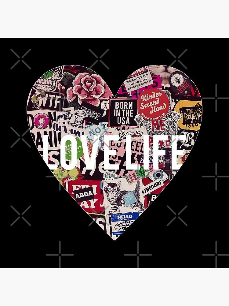 Love Life Grunge Heart by MyMadMerch
