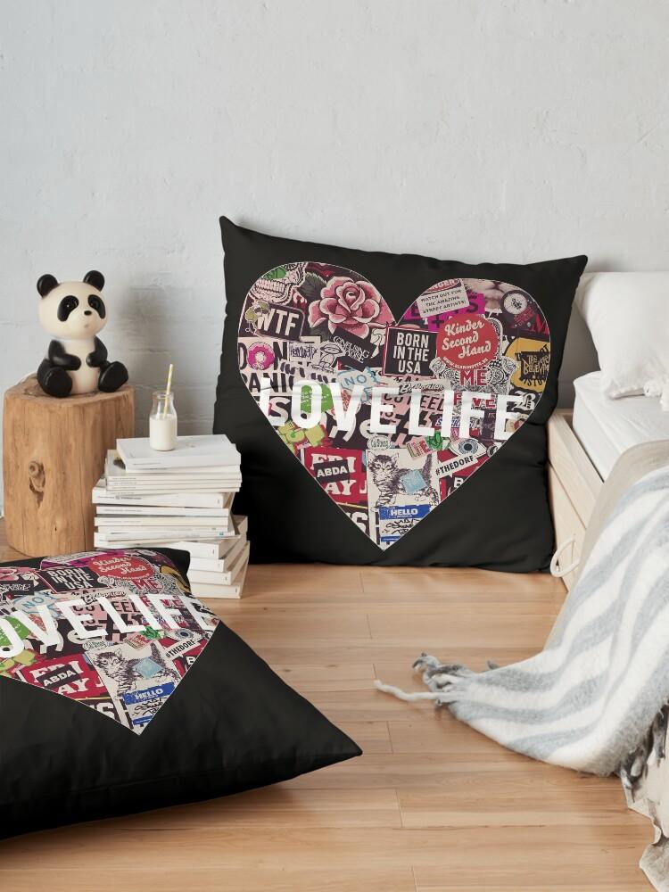 Alternate view of Love Life Grunge Heart Floor Pillow