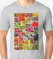 Fruits and Vegetables Collage Unisex T-Shirt