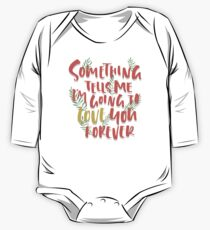 Love you Forever Long Sleeve Baby One-Piece
