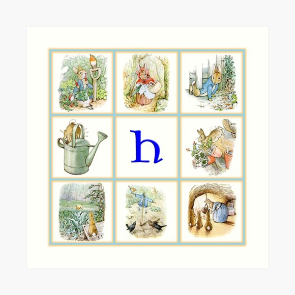 PETER RABBIT for the child whose name begins with H Art Print