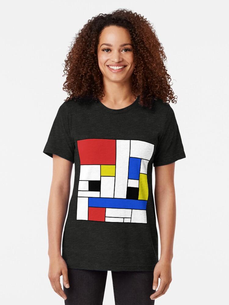 Alternative Ansicht von Mondrian Linien Vintage T-Shirt