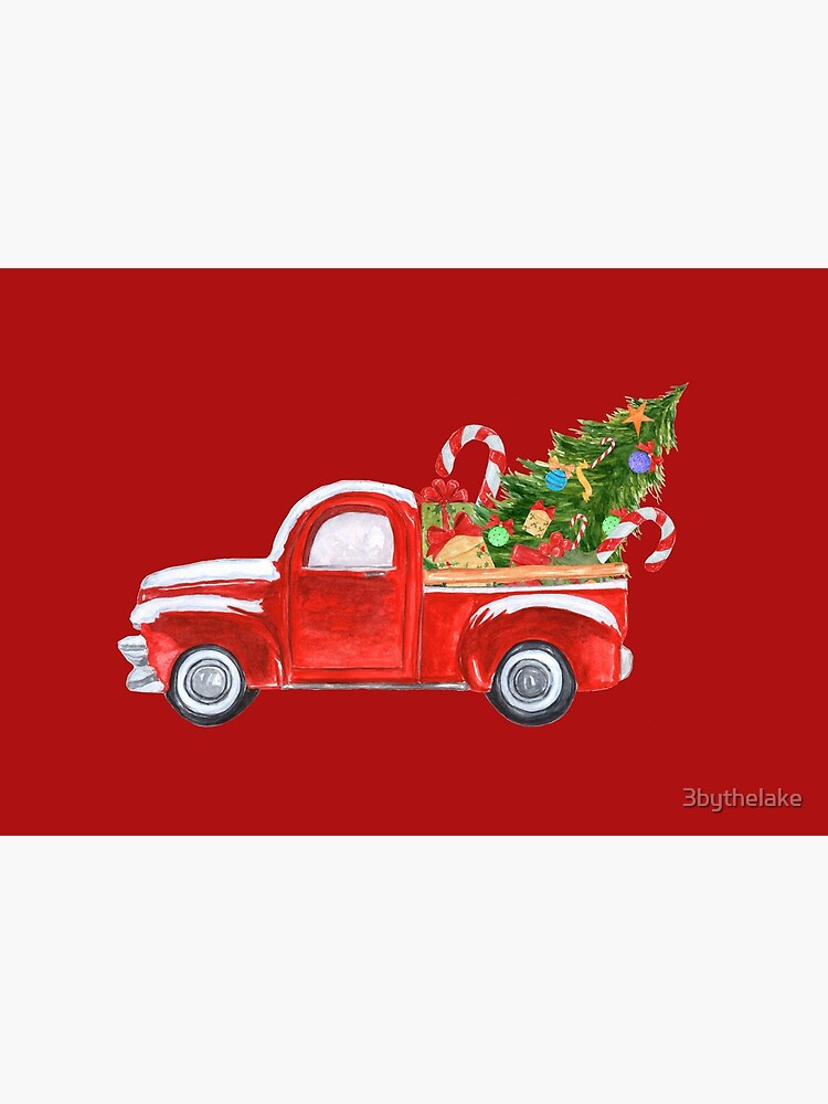 Vintage Red Truck Christmas Tree  by 3bythelake