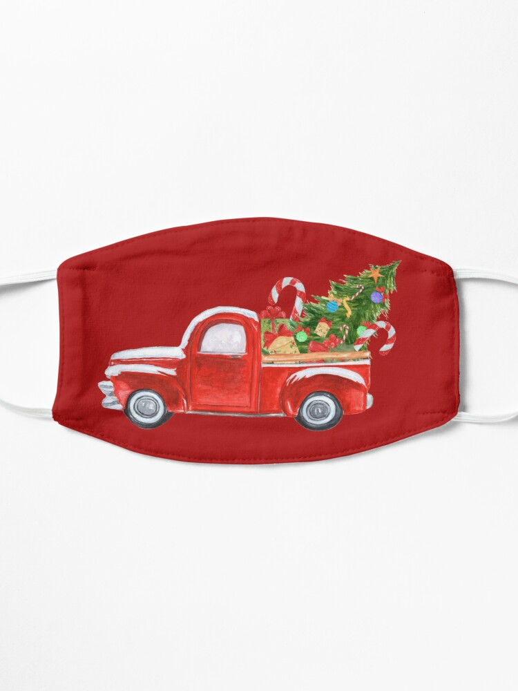 Alternate view of Vintage Red Truck Christmas Tree  Mask