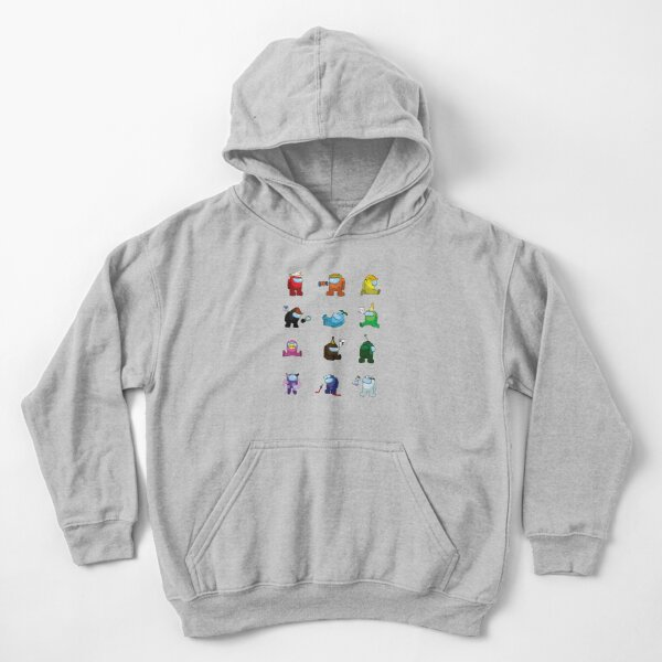 Among Us Pack - Stickers Pack Kids Pullover Hoodie