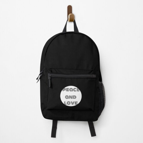 peace and love hippy quote Backpack