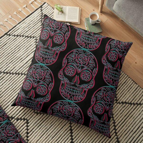 Sugar Skull Floor Pillow