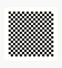 Check pattern. Checkered pattern. Black and white check pattern. Checkerboard. Chessboard. Art Print
