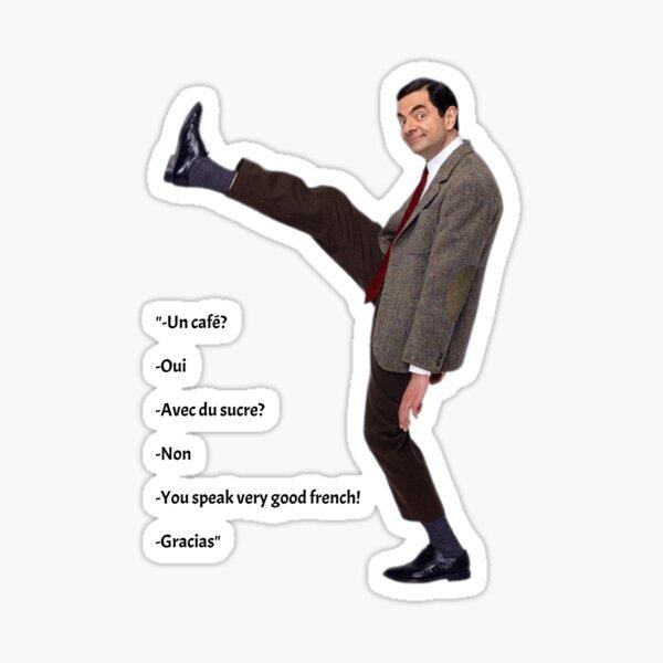 Mr Bean jambe levé- Replique Les vacances de Mr Bean Sticker