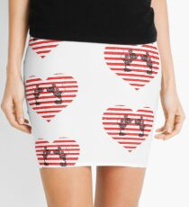 Striped Heart Mini Skirt