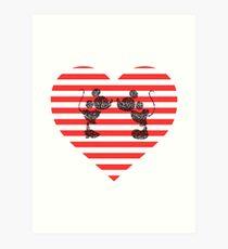 Striped Heart Art Print