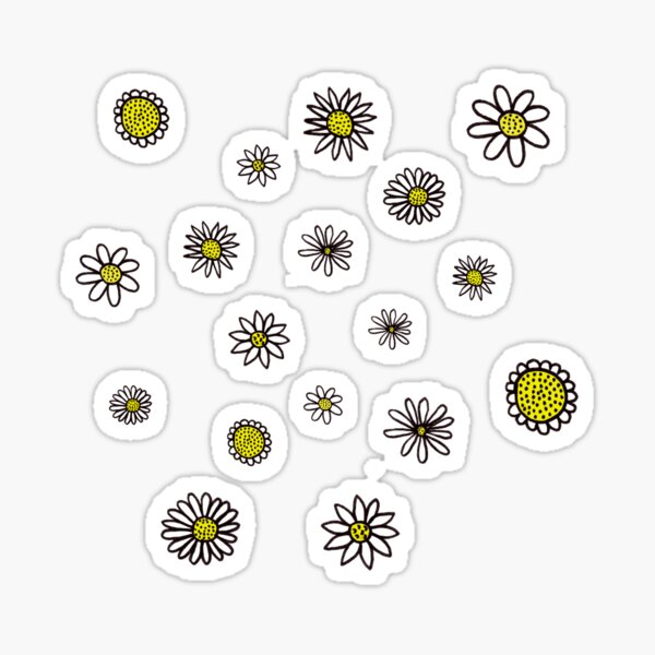 Doodled Daisies Sticker
