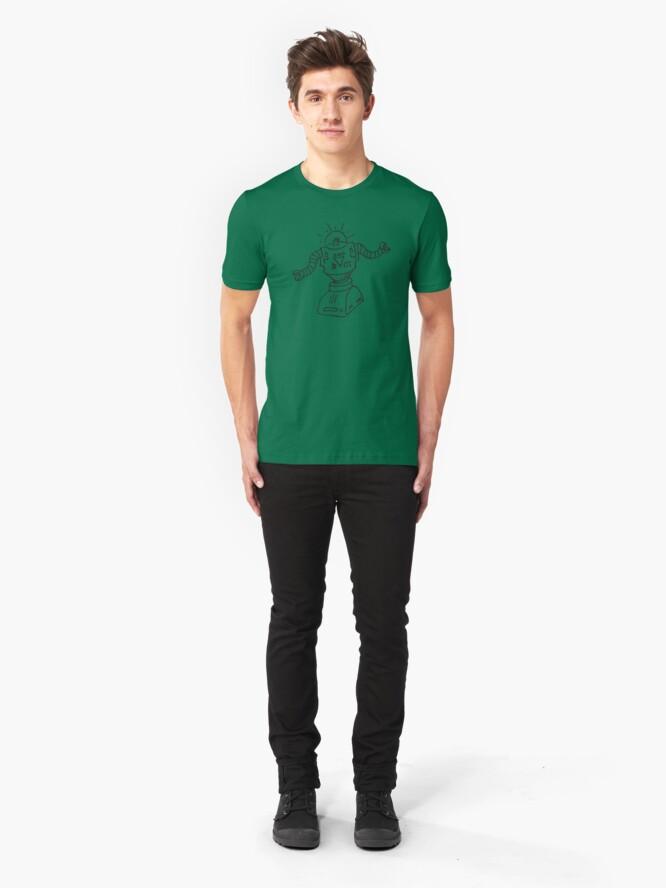 Alternate view of Robot Doodle Slim Fit T-Shirt