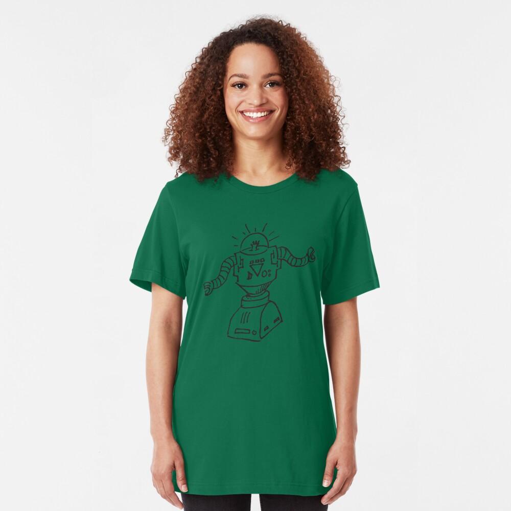 Robot Doodle Slim Fit T-Shirt