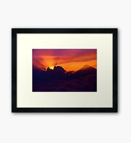 Buscando la Luz Framed Print