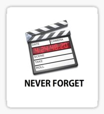 FINAL CUT PRO SEVEN NEVER FORGET Sticker