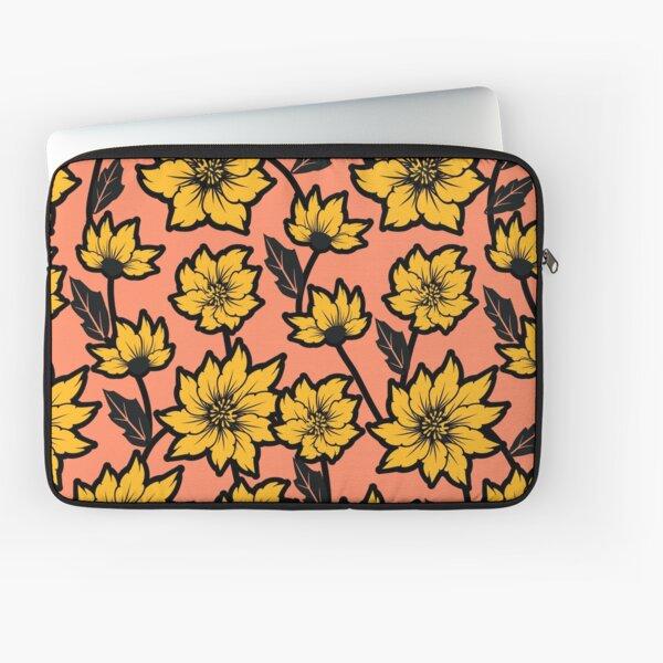 African Daisy Pattern Laptop Sleeve