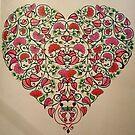 Valentines Floral Heart by kirsten-designs