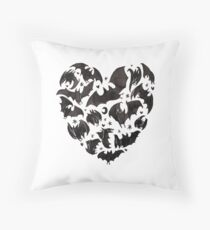 Bat Heart Throw Pillow