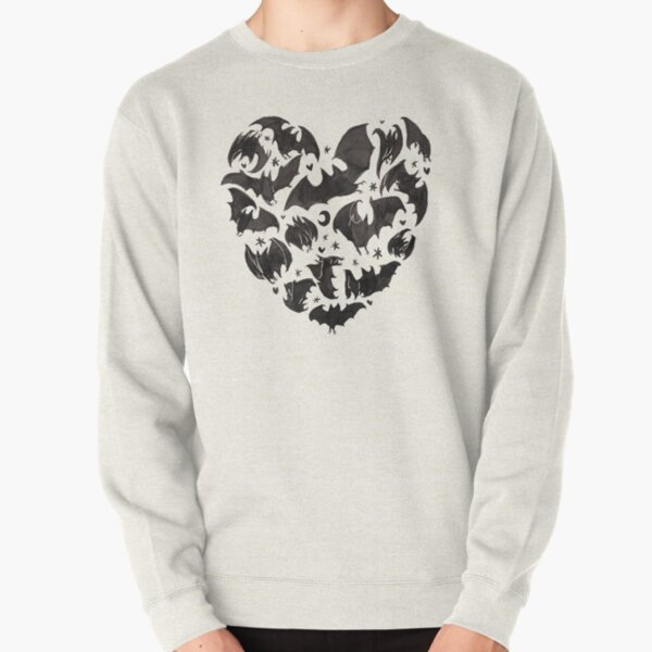 Bat Heart Pullover Sweatshirt