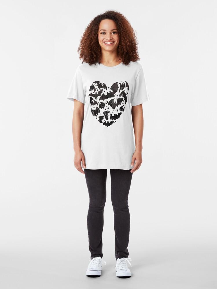Alternate view of Bat Heart Slim Fit T-Shirt
