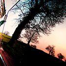 Window Sunset Reflection by kirsten-designs