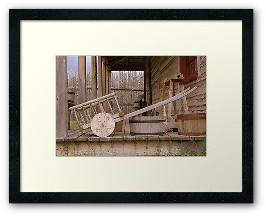 Old Wooden Cart by Elizabeth  Lilja