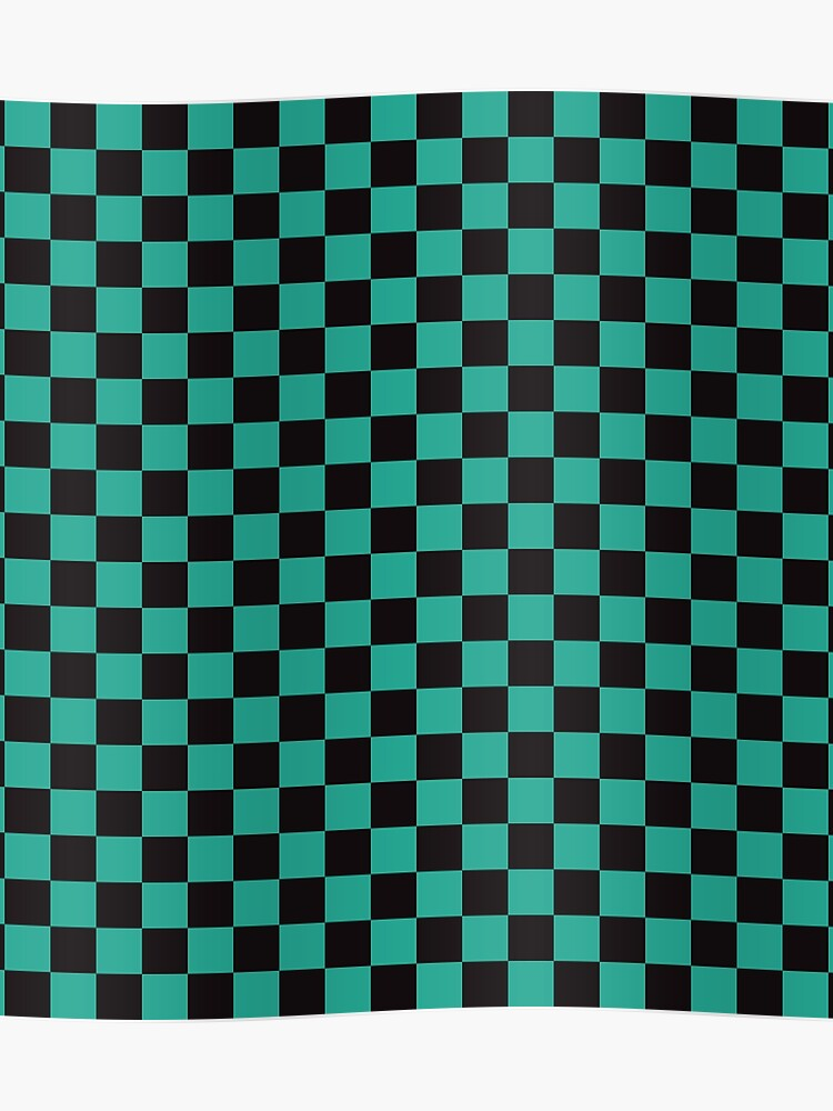 c2d58e8bd Minimalist check pattern. checkered square, Green and black. Checkered  pattern. Poster