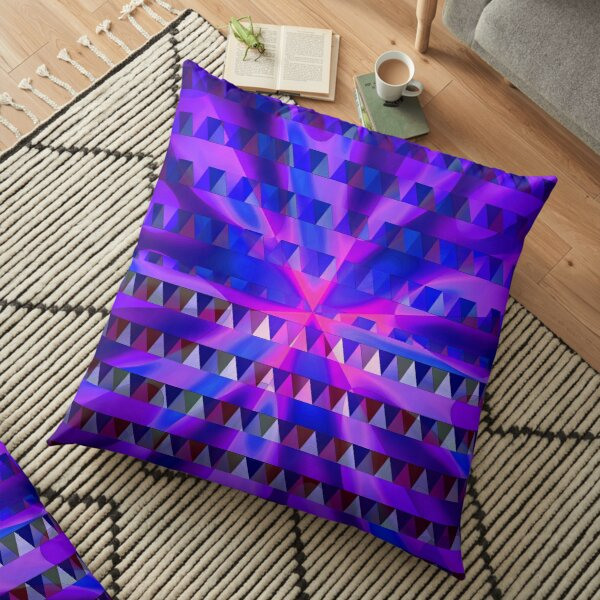 Purple Sunrise Floor Pillow