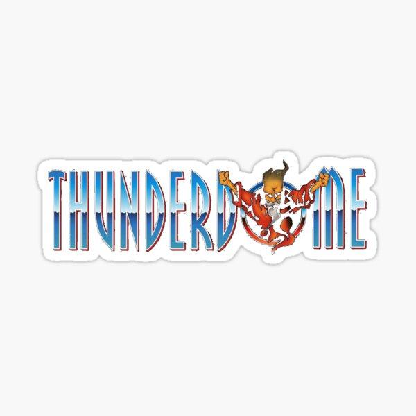 Texto del logotipo de Thunderdome Pegatina