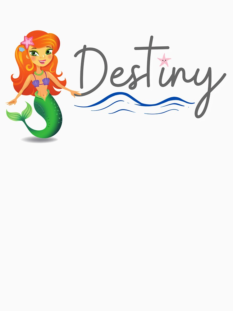 Custom Name: Destiny with Mermaid and Starfish by kgerstorff