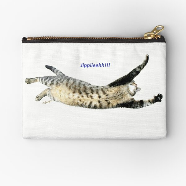 But someone is happy! Photo cat. Zipper Pouch