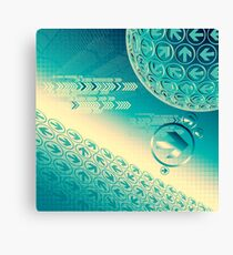 arrow motion with Business background Canvas Print