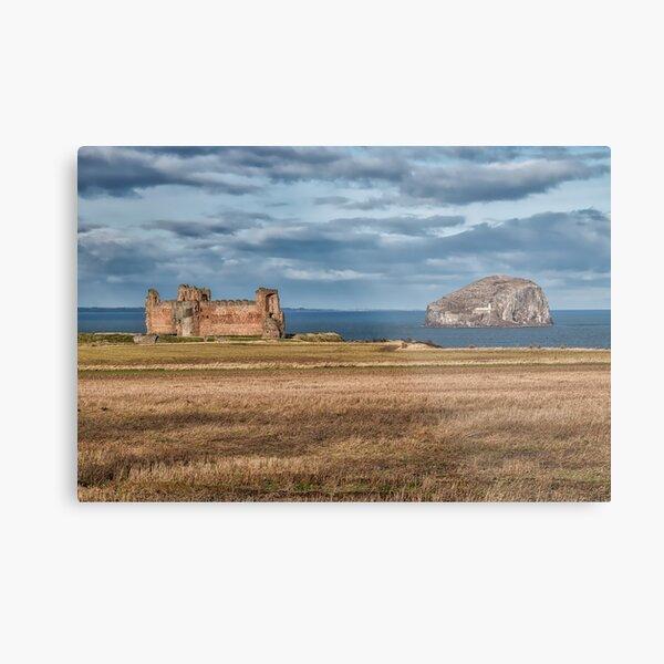Tantallon Castle and Bass Rock Metal Print