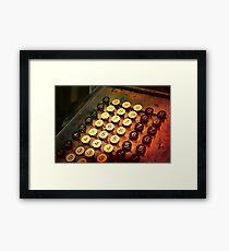Antique Adding Machine Keys - photography Framed Print