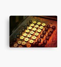 Antique Adding Machine Keys - photography Canvas Print