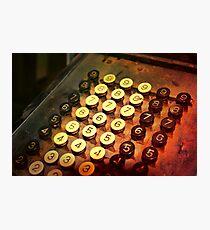 Antique Adding Machine Keys - photography Photographic Print