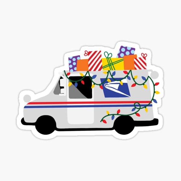 Mail Truck Sticker | Christmas Present Delivery Sticker | Thank You USPS sticker | USPS Truck | Mail Carrier | Package Stickers Sticker