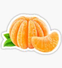 Peeled tangerine or orange fruit Sticker
