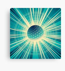 Abstract colorful business finance background Canvas Print