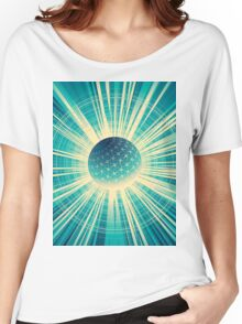 Abstract colorful business finance background Women's Relaxed Fit T-Shirt