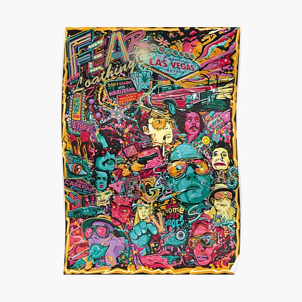 Psychedelic Fear and Loathing in Las Vegas Poster