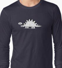 Cartoon Stegosaurus Long Sleeve T-Shirt