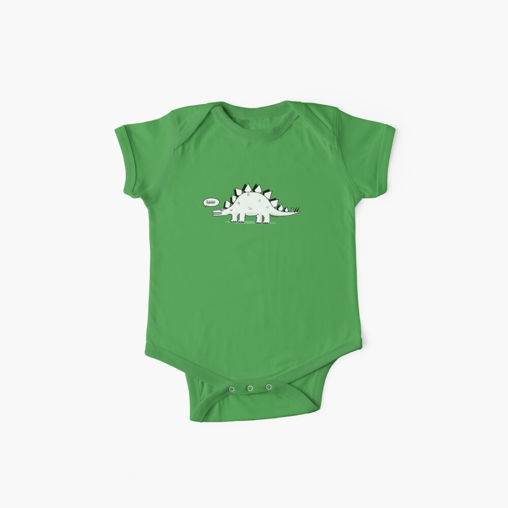 Cartoon Stegosaurus Baby One-Piece
