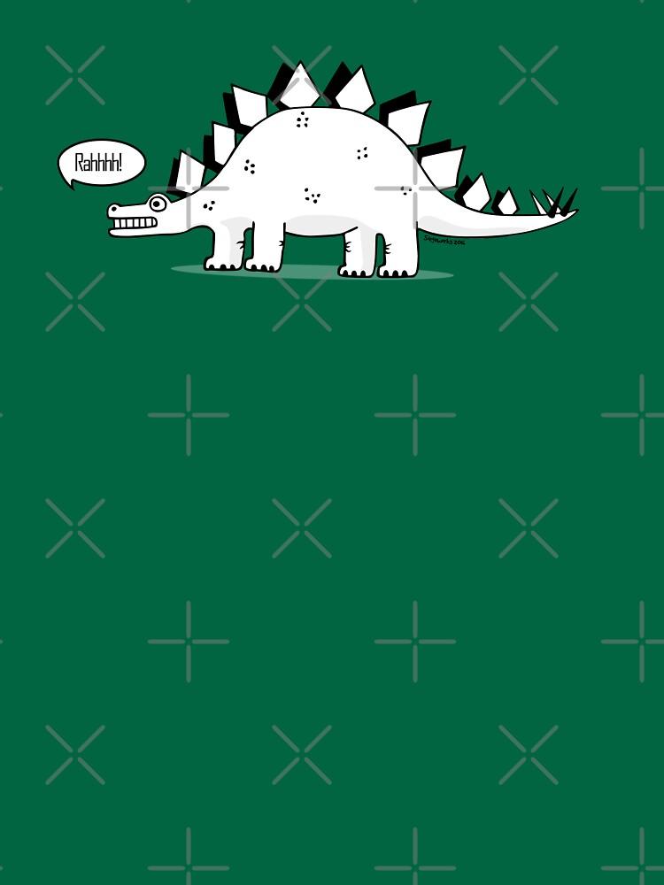 TShirtGifter presents: Cartoon Stegosaurus | Unisex T-Shirt