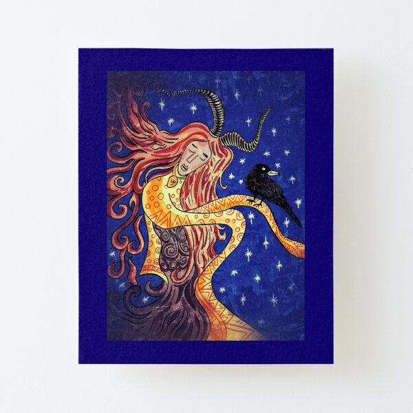 Sabbatic Priestess Canvas Mounted Print